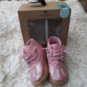 New Sperry ice storm crib pink shoes 4